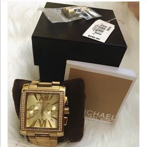 Michael Kors watch- Gold Square face